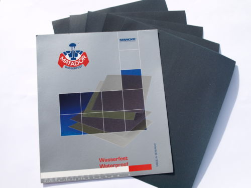 WET AND DRY PAPER 1500 2000 3000 5000 GRIT 1 OF EACH MIXED SANDPAPER 2500